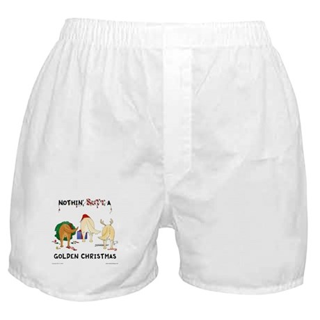 Nothin' Butt A Golden Xmas Boxer Shorts
