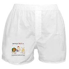Nothin' Butt A Golden Xmas Boxer Shorts