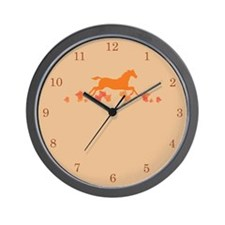 Thanksgiving Horse Wall Clock