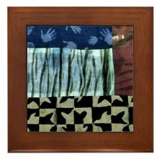 Turtles in the Grass Framed Tile