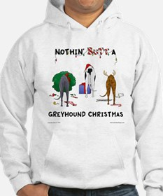 Nothin' Butt A Greyhound Xmas Hoodie