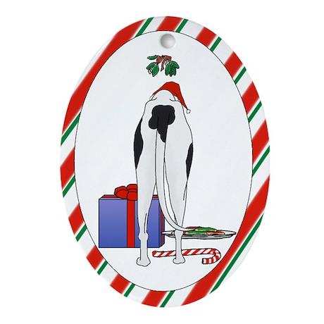 Greyhound Christmas Oval Ornament