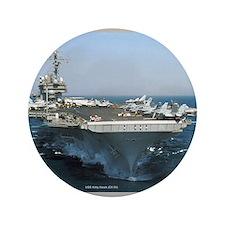"""USS Kitty Hawk 3.5"""" Button (100 pack)"""