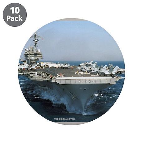 """USS Kitty Hawk 3.5"""" Button (10 pack)"""