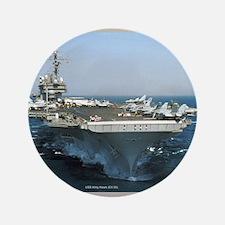 "USS Kitty Hawk 3.5"" Button"