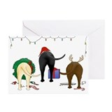 Chocolate lab Greeting Cards (20 Pack)