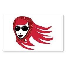 Red Starlet Rectangle Decal