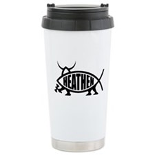 Heathen Fish Ceramic Travel Mug