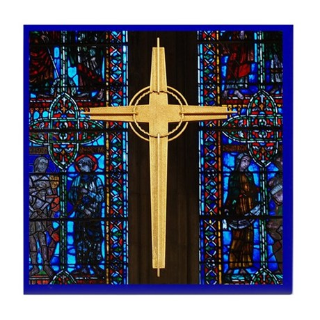 The Cross Tile Coaster