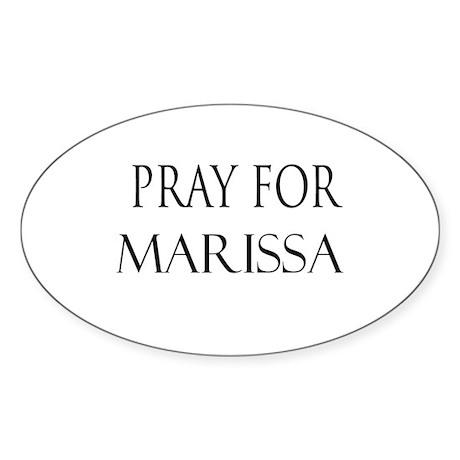 MARISSA Oval Sticker