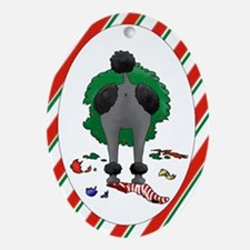Nothin' Butt Poodles Oval Ornament