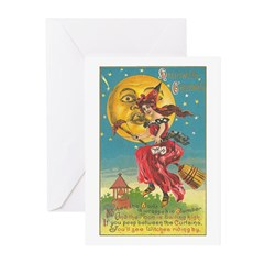 Riding Witches Greeting Cards (Pk of 10)