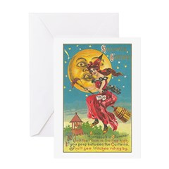 Riding Witches Greeting Card