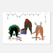 Pit Bull Christmas Postcards (Package of 8)