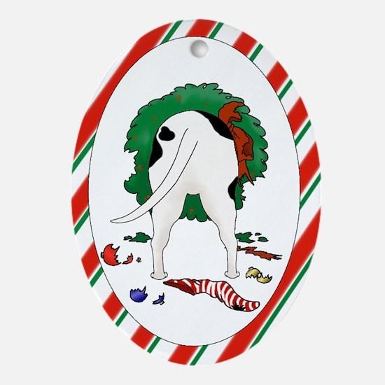 Pit Bull Terrier Christmas Oval Ornament