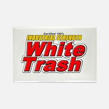 White Trash Rectangle Magnet