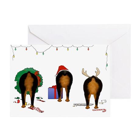 Rottweiler Christmas Greeting Card