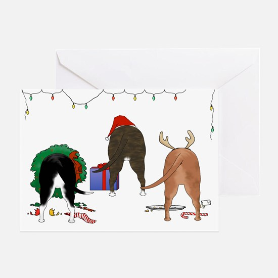 Staffie Christmas Greeting Card