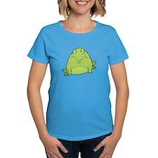 WOMEN Lazy Frog T-Shirt BLUE