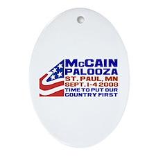 McCain-Palooza Oval Ornament
