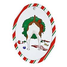 Rat Terrier Christmas Oval Ornament