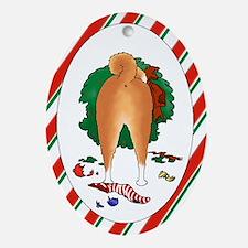 Shiba Inu Christmas Oval Ornament