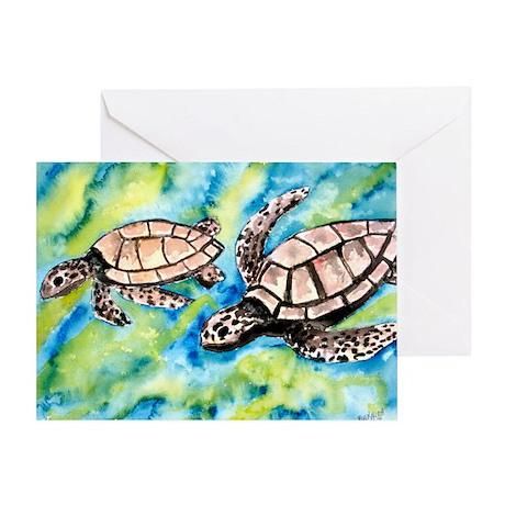 pair of sea turtles in love s Greeting Card