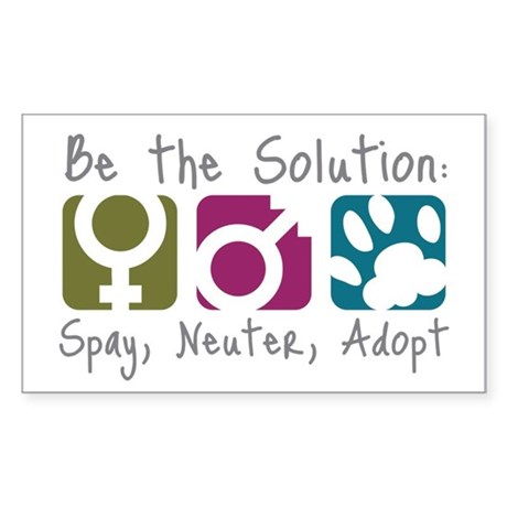 Be the Solution Rectangle Sticker