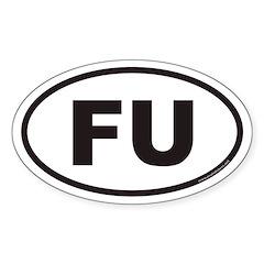 FU Euro Oval Sticker
