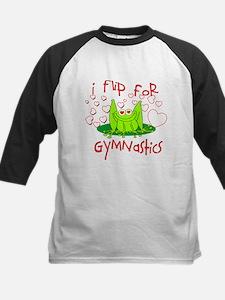 I Flip for Gymnastics Kids Baseball Jersey