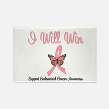 Endometrial Cancer Win Rectangle Magnet