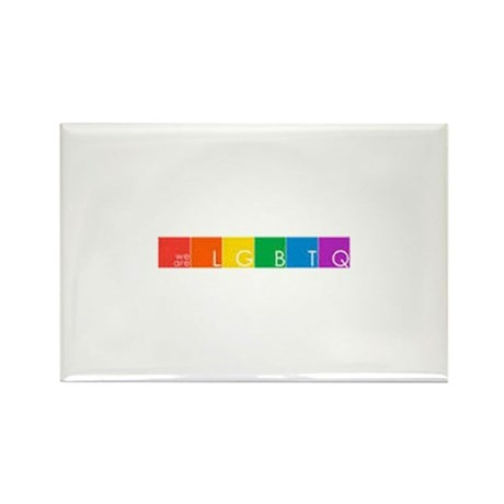 WeAreLGBTQ Rectangle Magnet (10 pack)