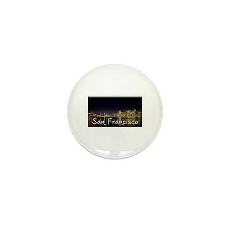 San Francisco at night Mini Button (10 pack)