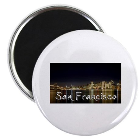 "San Francisco at night 2.25"" Magnet (10 pack)"