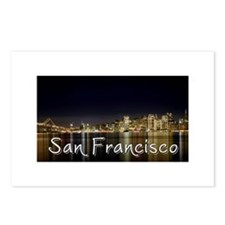 San Francisco at night Postcards (Package of 8)