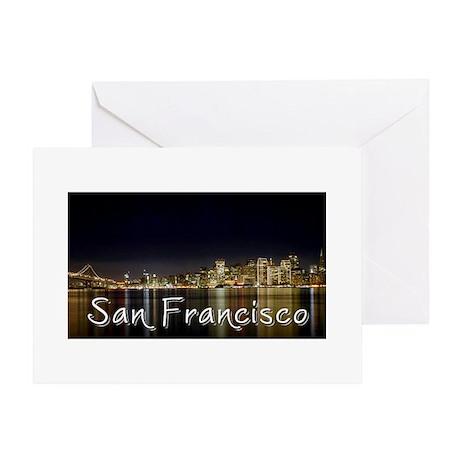 San Francisco at night Greeting Card