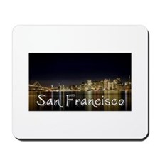 San Francisco at night Mousepad