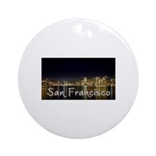 San Francisco at night Ornament (Round)