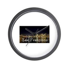 San Francisco at night Wall Clock