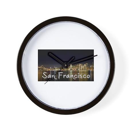 San Francisco at night Wall Clock