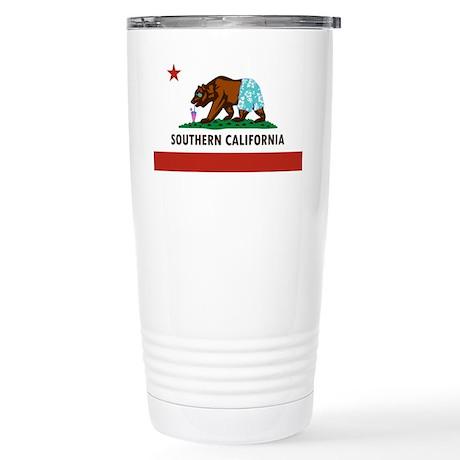 So Cal Flag Stainless Steel Travel Mug