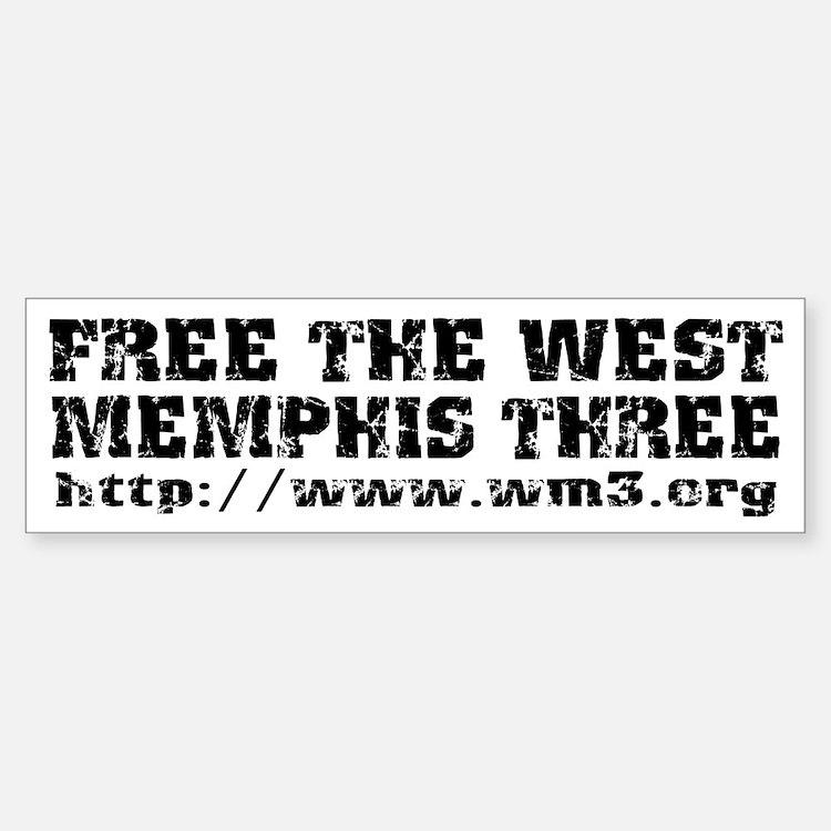 Free the West Memphis Three Bumper Bumper Bumper Sticker