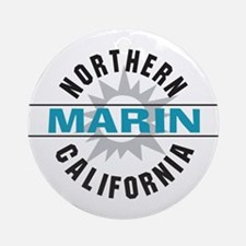 Marin California Ornament (Round)