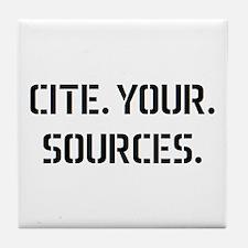 cite sources Tile Coaster