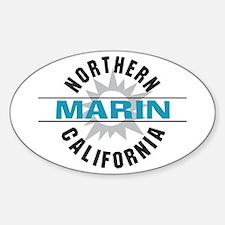 Marin California Oval Decal
