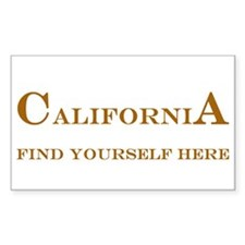 California State Rectangle Decal