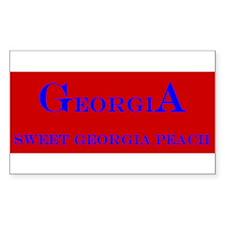 Georgia State Rectangle Decal