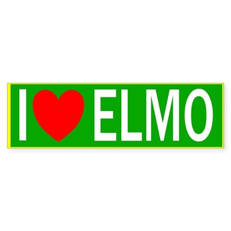 I Heart Elmo Bumper Sticker