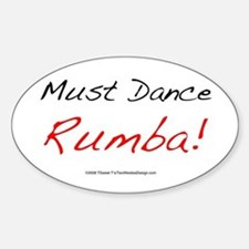 Must Dance Oval Stickers