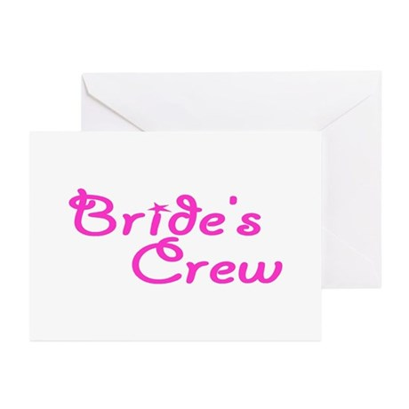 Bride's Crew Greeting Cards (Pk of 10)